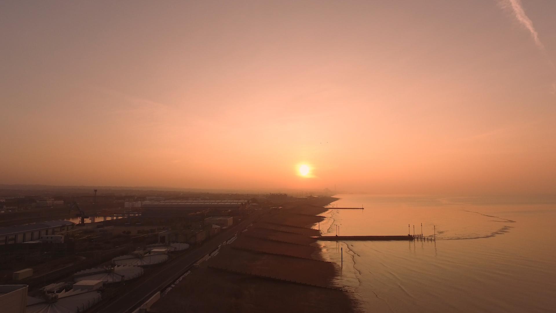 Sunrise at Shoreham (By Drone) - 4K
